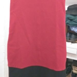 Express Dress Small Red Sleeveless Turtle